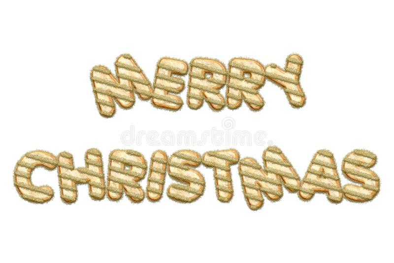Merry Christmas festive letters stock illustration