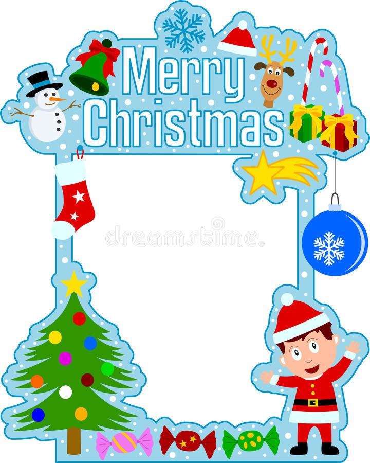 Free Merry Christmas Frame [Boy] Stock Photography - 11611932