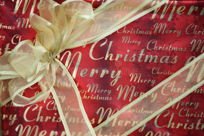 Download Merry Christmas Gift stock photo. Image of wrapped, paper - 2846030