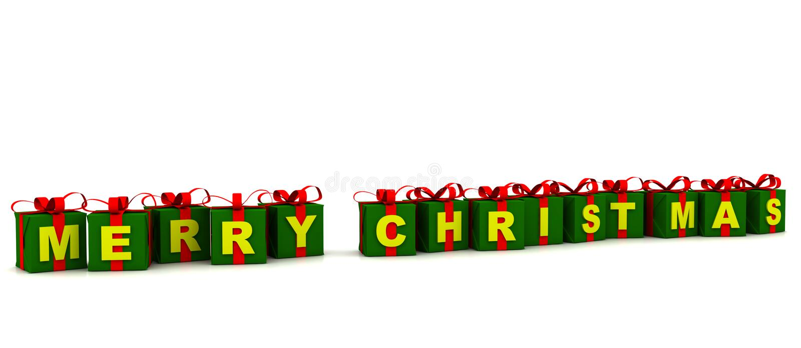 Download Merry Christmas Gift Boxes stock illustration. Illustration of text - 6700645