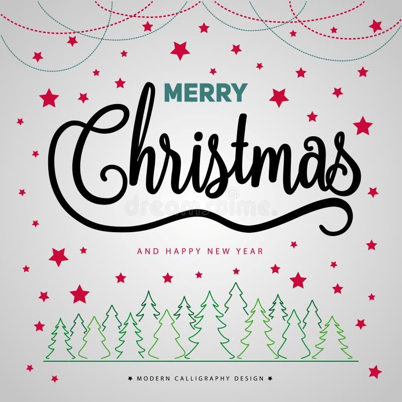 Merry Christmas gift poster. Christmas gold glittering lettering stock photo