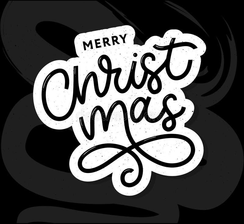Merry Christmas gold glittering lettering design. Vector illustration EPS 10 stock illustration