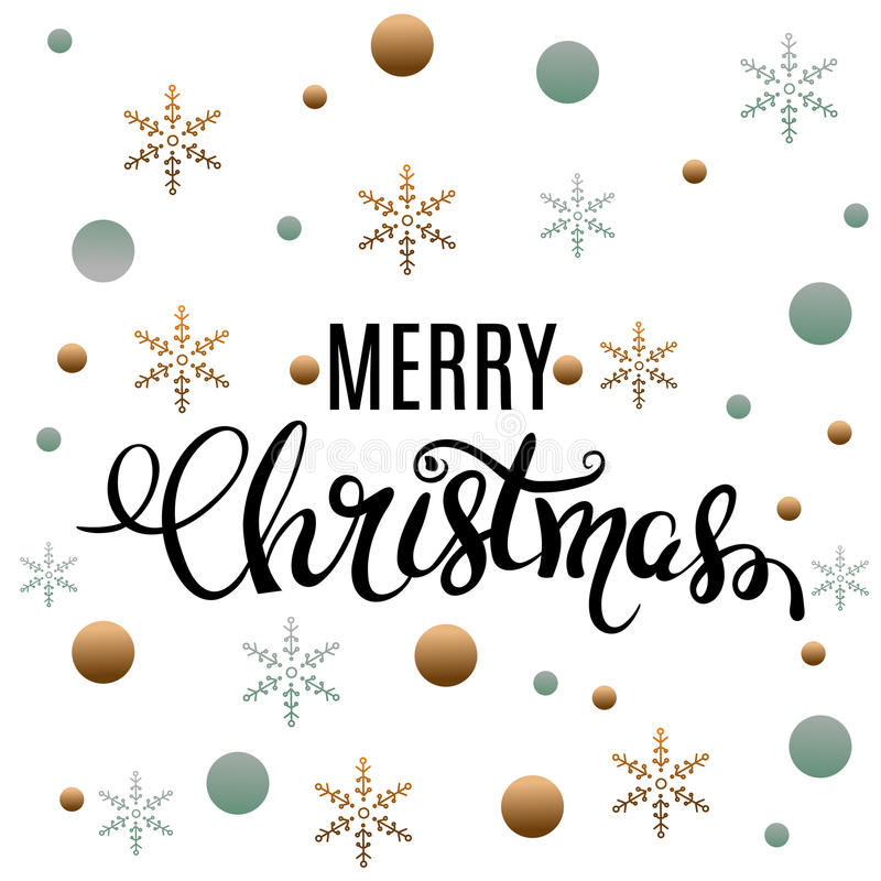 Merry Christmas gold glittering lettering design. Vector illustration vector illustration