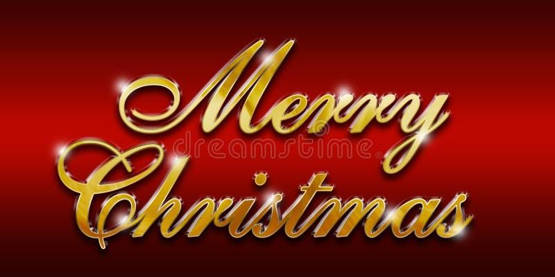 Merry Christmas Gold glossy logo royalty free stock photos
