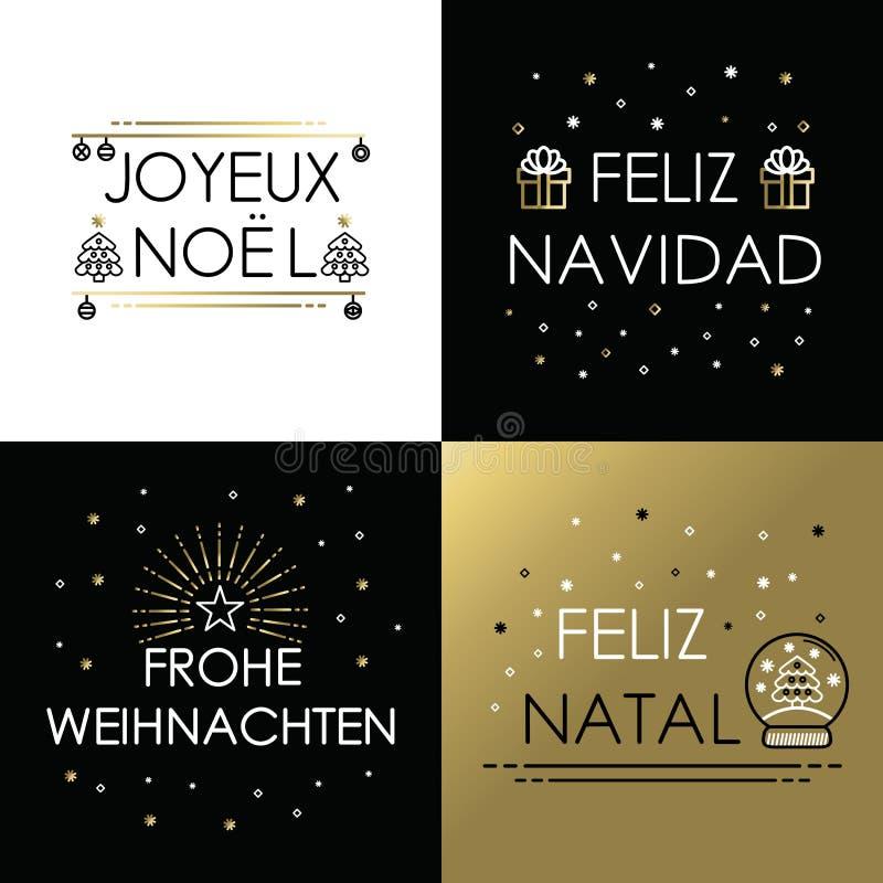 merry christmas gold line international navidad stock. Black Bedroom Furniture Sets. Home Design Ideas