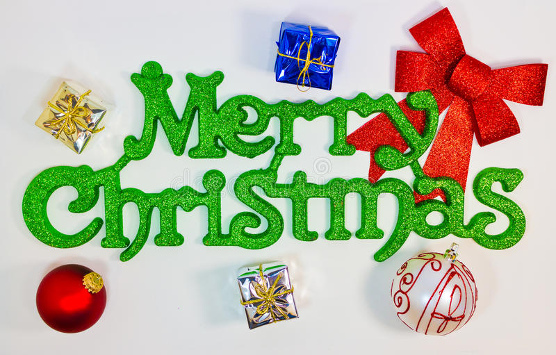 Merry Christmas Greeting stock image