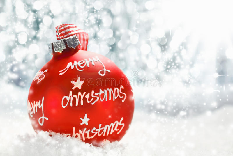 Download Merry Christmas Greeting Card Stock Image - Image: 27249531
