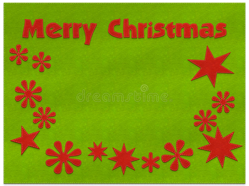 Merry Christmas greeting card background stock illustration
