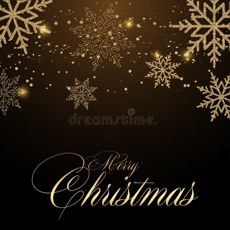 Merry Christmas greeting card with Christmas ornaments. Vector.  royalty free stock photos