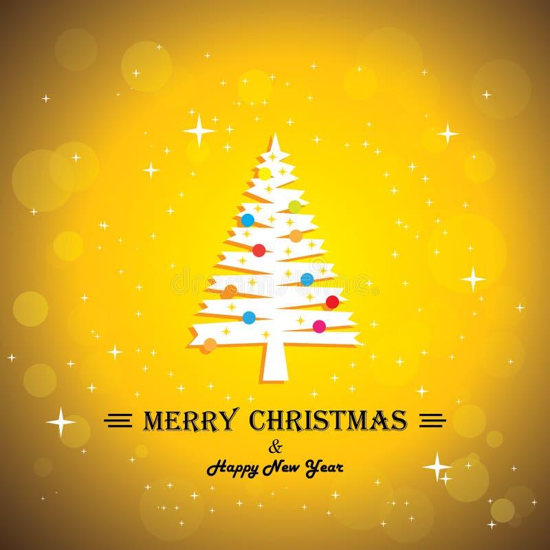 Free Merry Christmas Greeting Card Poster & Xmas Tree - Stock Photos - 35701503