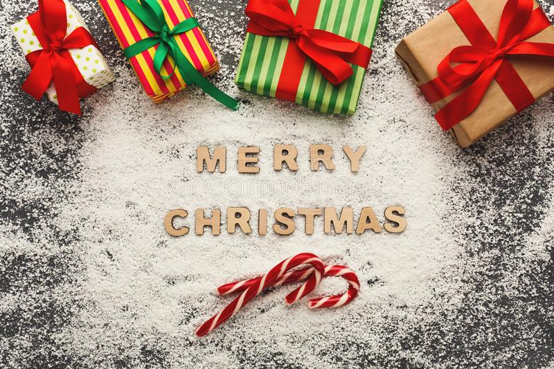 Merry Christmas greeting, decoration background stock images