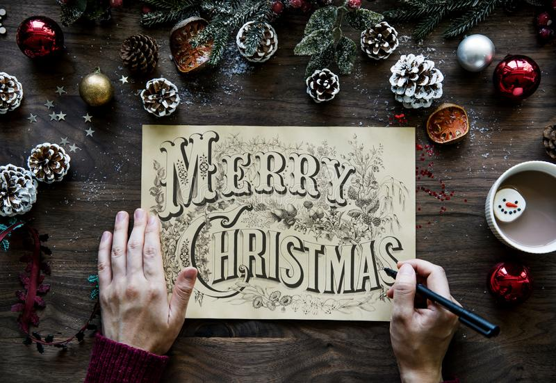 Merry Christmas Greeting Photo royalty free stock photo