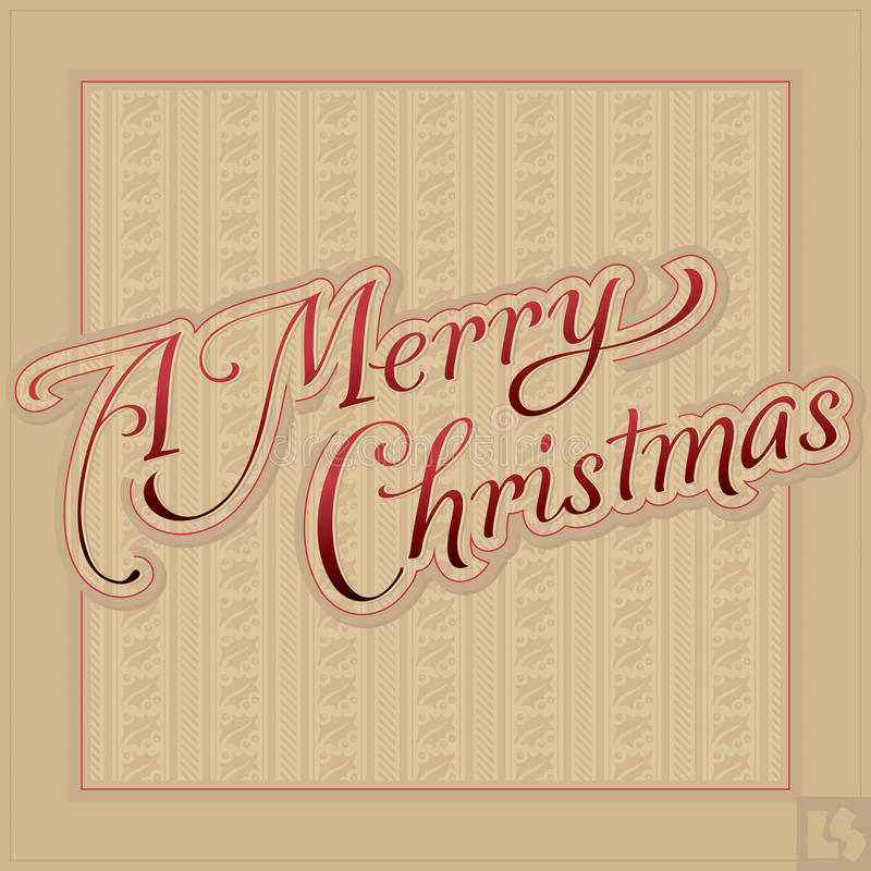 MERRY CHRISTMAS Hand Lettering (vector) Stock Vector