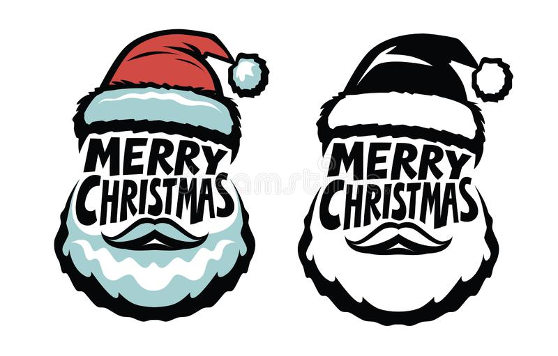 Merry Christmas, handwritten lettering. Santa Claus concept. Typographic design vector illustration vector illustration