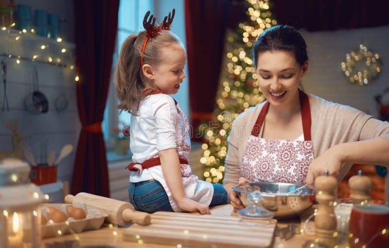 Cooking Christmas cookies stock image