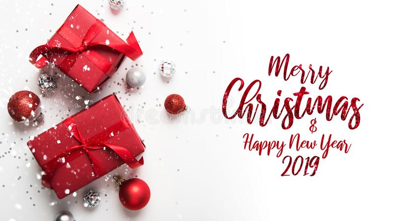 Christmas and New Year holiday background. Xmas greeting card. Winter holidays. Merry Christmas and Happy Holidays greeting card, frame, banner. New Year royalty free stock images