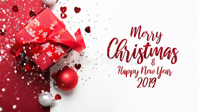 Christmas and New Year holiday background. Xmas greeting card. Winter holidays. Merry Christmas and Happy Holidays greeting card, frame, banner. New Year stock image