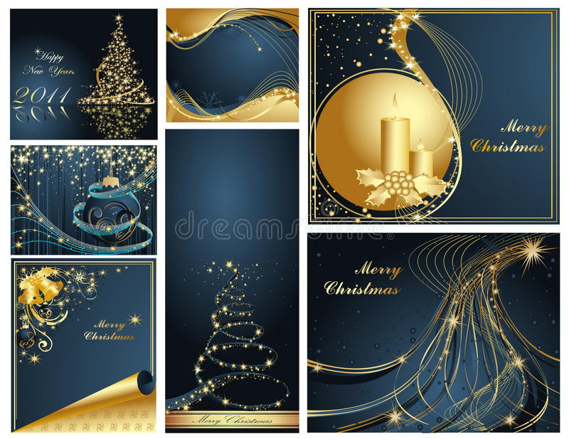 Merry Christmas and Happy New royalty free illustration
