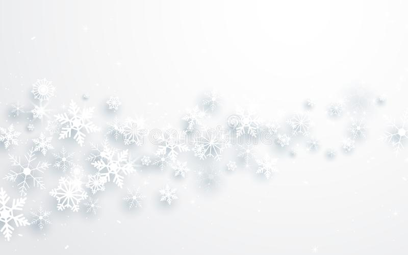 Merry Christmas and Happy new year. Abstract snowflakes background royalty free illustration