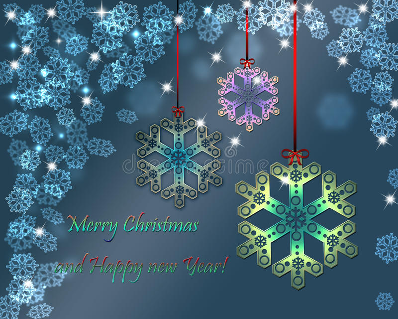 Merry Christmas and Happy New Year. Background stock illustration