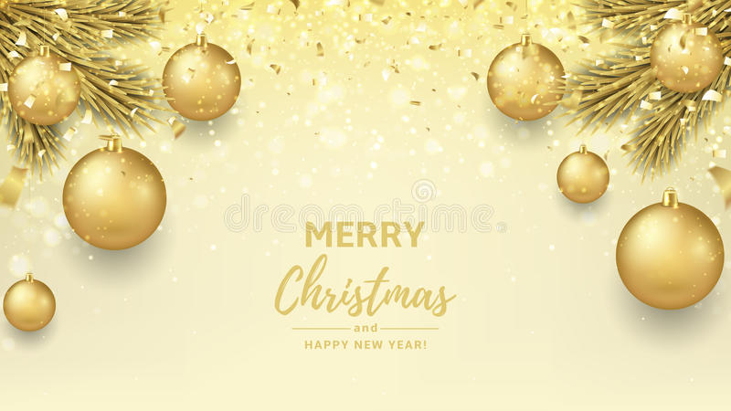 50 Beautiful Merry Christmas And Happy New Year Pictures: Merry Christmas And Happy New Year Background Stock Vector