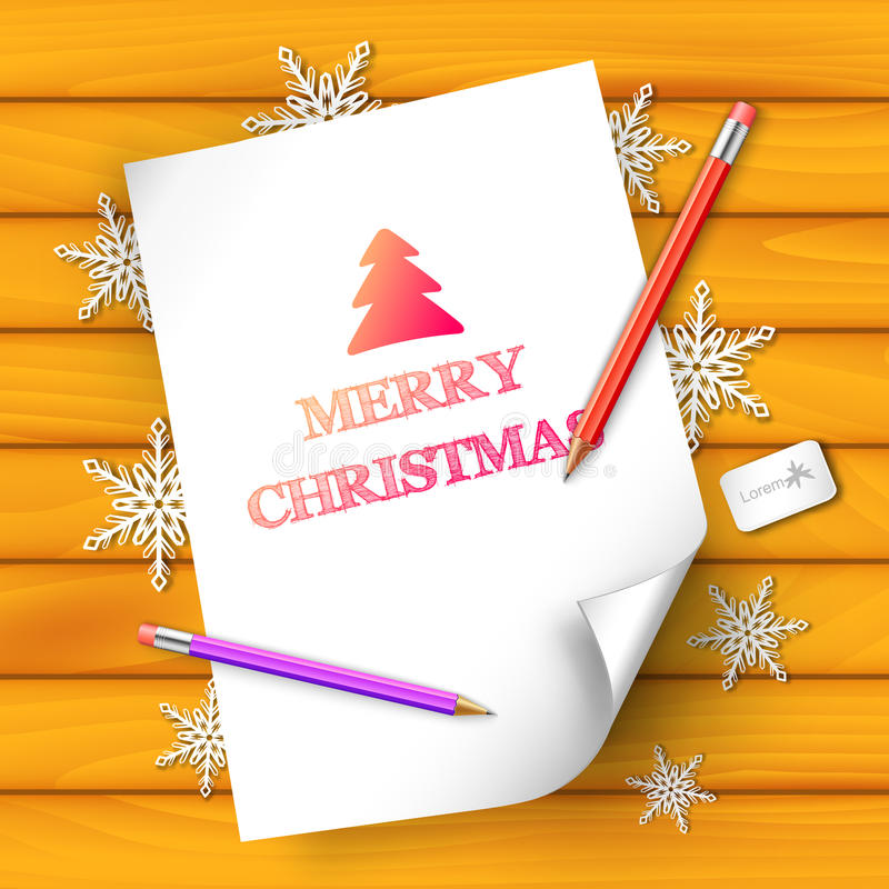 Merry Christmas and happy new year Background. Concept. Vector Illustration royalty free illustration