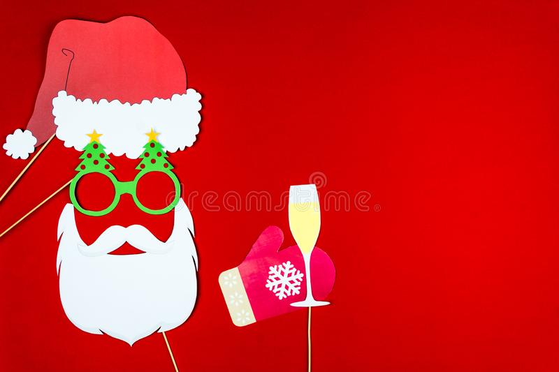 Merry Christmas and Happy 2019 New Year background stock photo