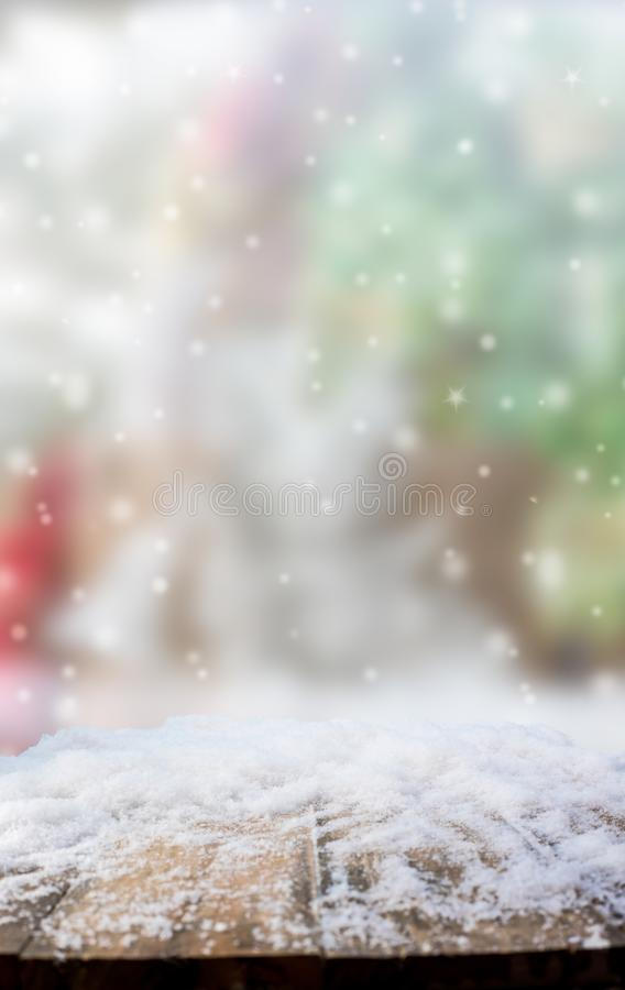 Merry Christmas and Happy New Year background. Merry Christmas and Happy New Year, blur background with snow royalty free stock photos