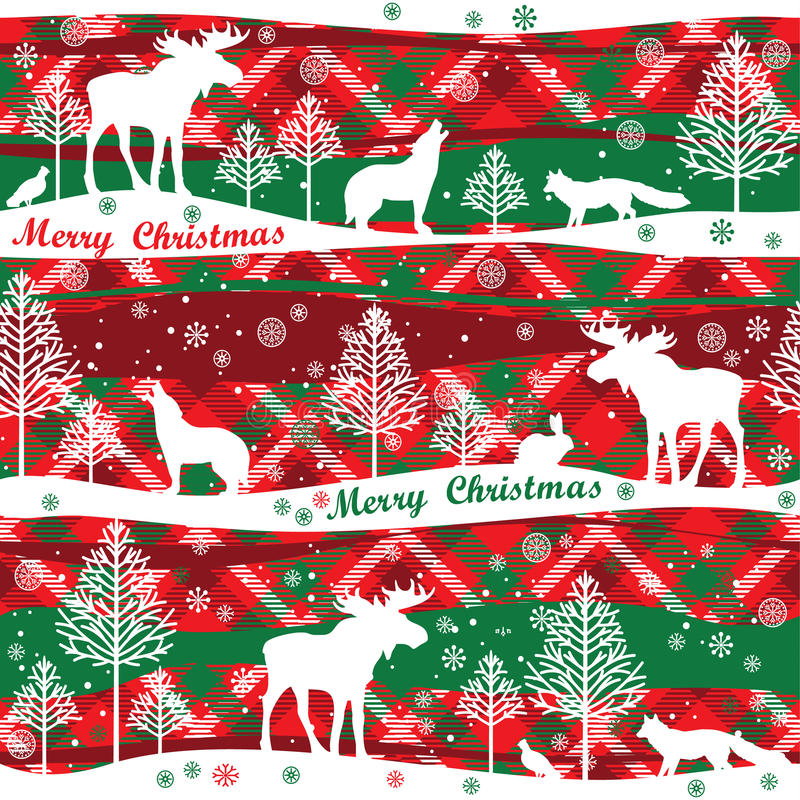 Merry Christmas and Happy New Year background. Seamless pattern. royalty free illustration