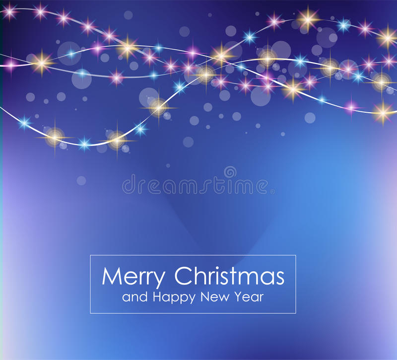 2016 Merry Christmas and Happy New Year Background stock illustration