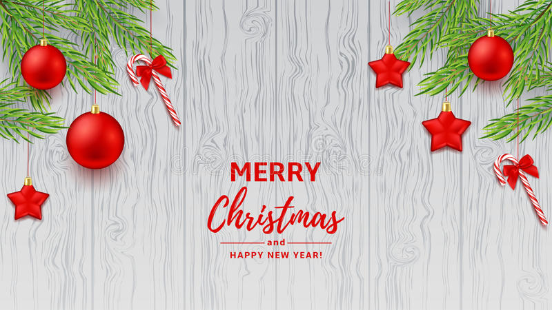 Merry Christmas and Happy New Year banner royalty free illustration