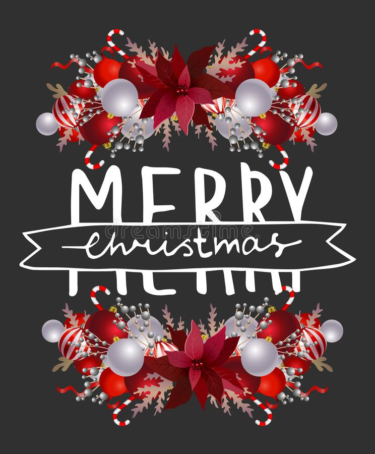 Merry Christmas and Happy New Year Card. royalty free illustration
