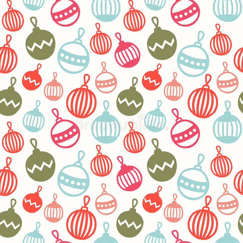 Merry Christmas and Happy New Year 2017. Christmas season hand drawn seamless pattern. Vector illustration. Doodle style stock illustration