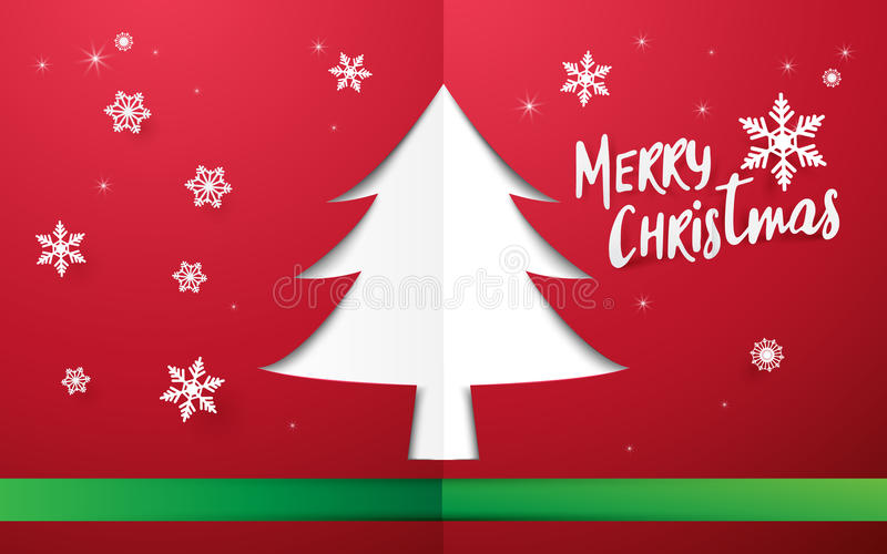 Merry Christmas and Happy new year. Christmas tree shape space stock illustration