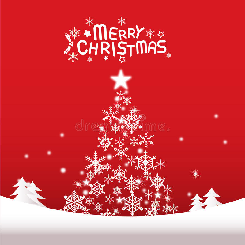 Merry christmas and happy new year, Christmas Tree stock photography