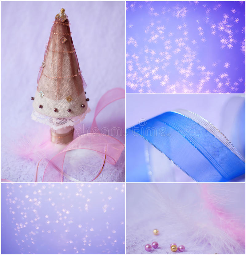 Download Merry Christmas And Happy New Year, Collage Greeting Card Stock Photo - Image: 46479814