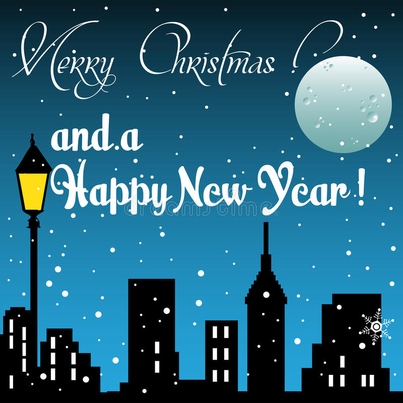 Merry Christmas and a Happy New Year stock photos