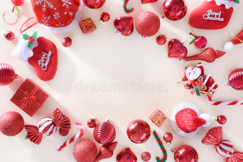 merry christmas and happy new year concept with Celebration ball royalty free stock images