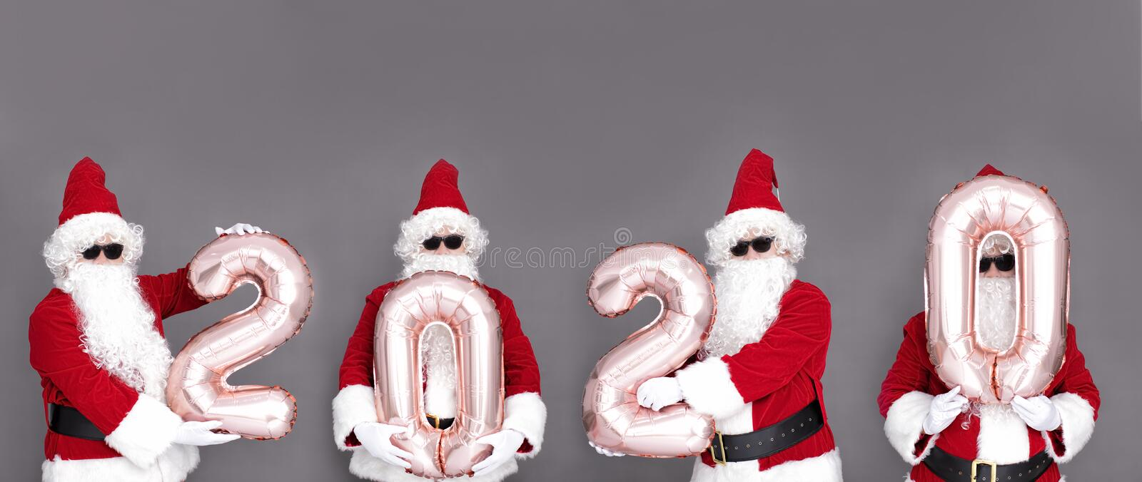 Merry Christmas and happy new year 2020  with cute Santa Claus royalty free stock image
