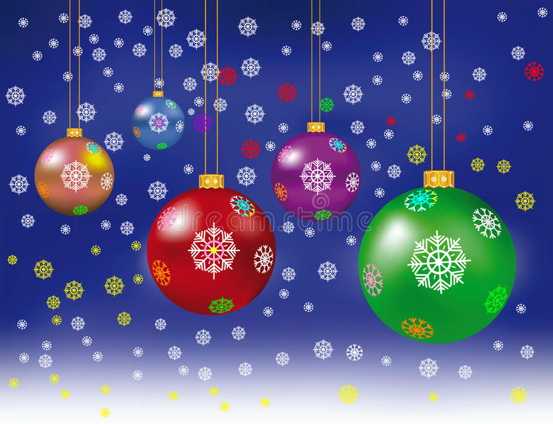 Merry Christmas and Happy New Year decoration. Merry Christmas and Happy New Year decoration royalty free illustration