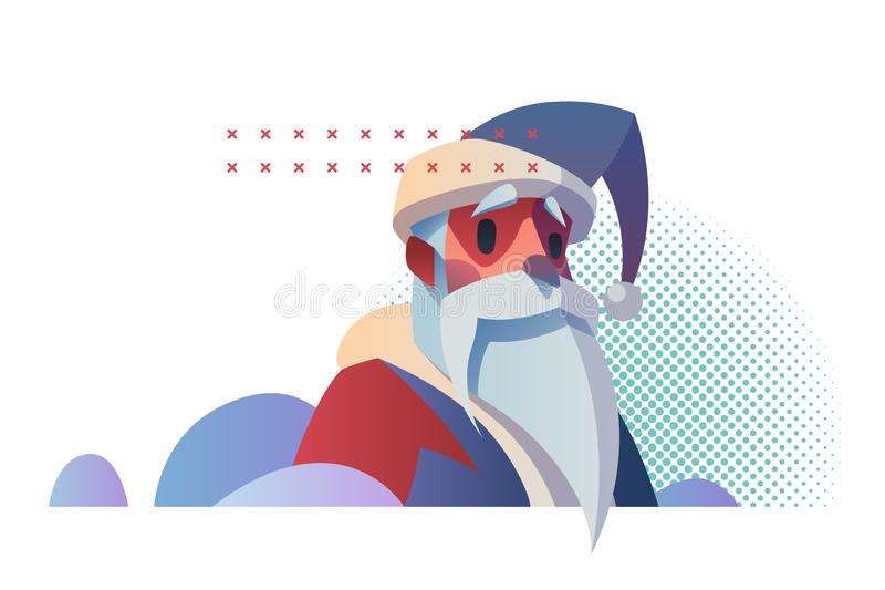 Merry Christmas and Happy New Year design concept stock image