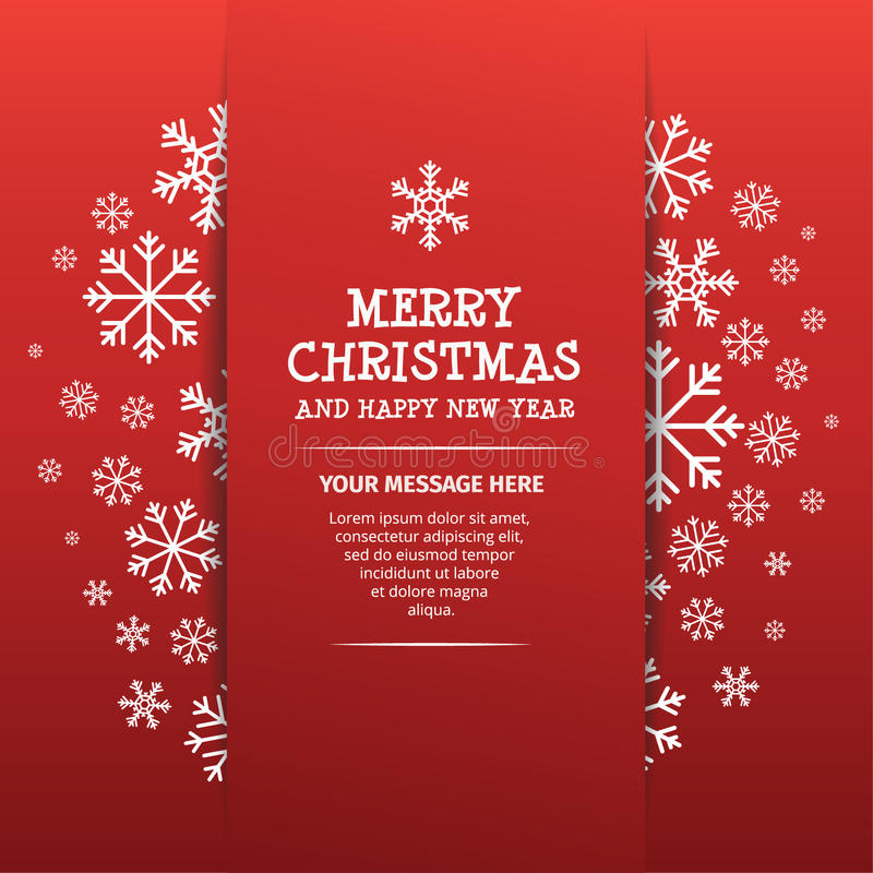 Merry Christmas and Happy New Year Design royalty free stock image