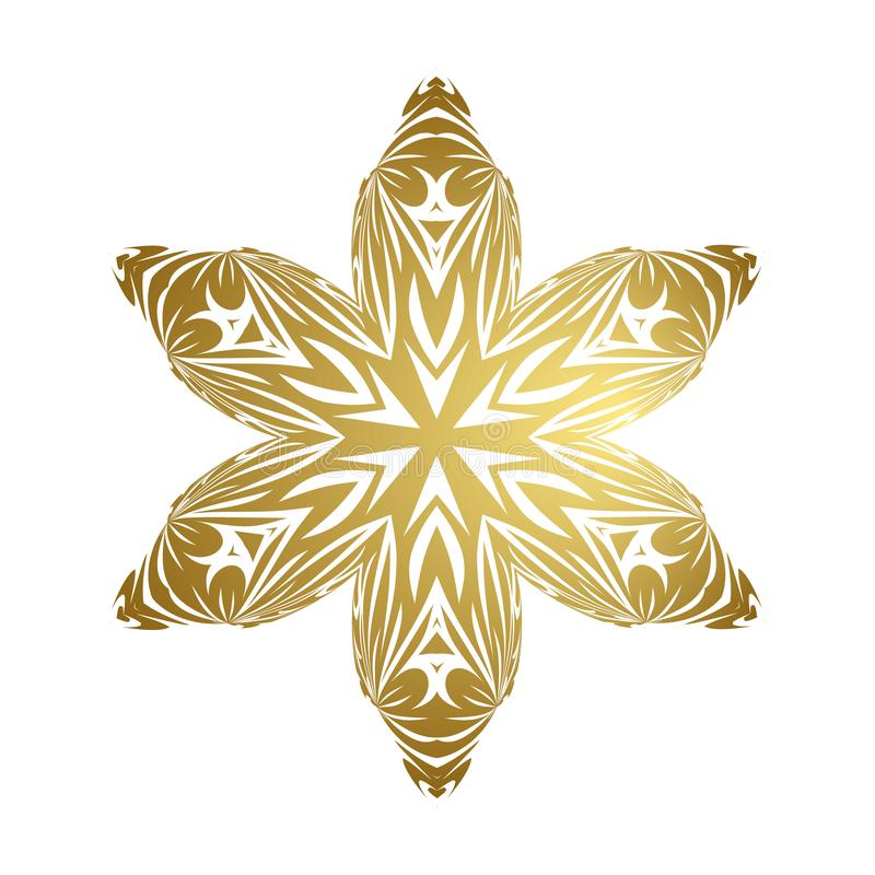 Merry christmas happy new year gold snowflake royalty free stock photos