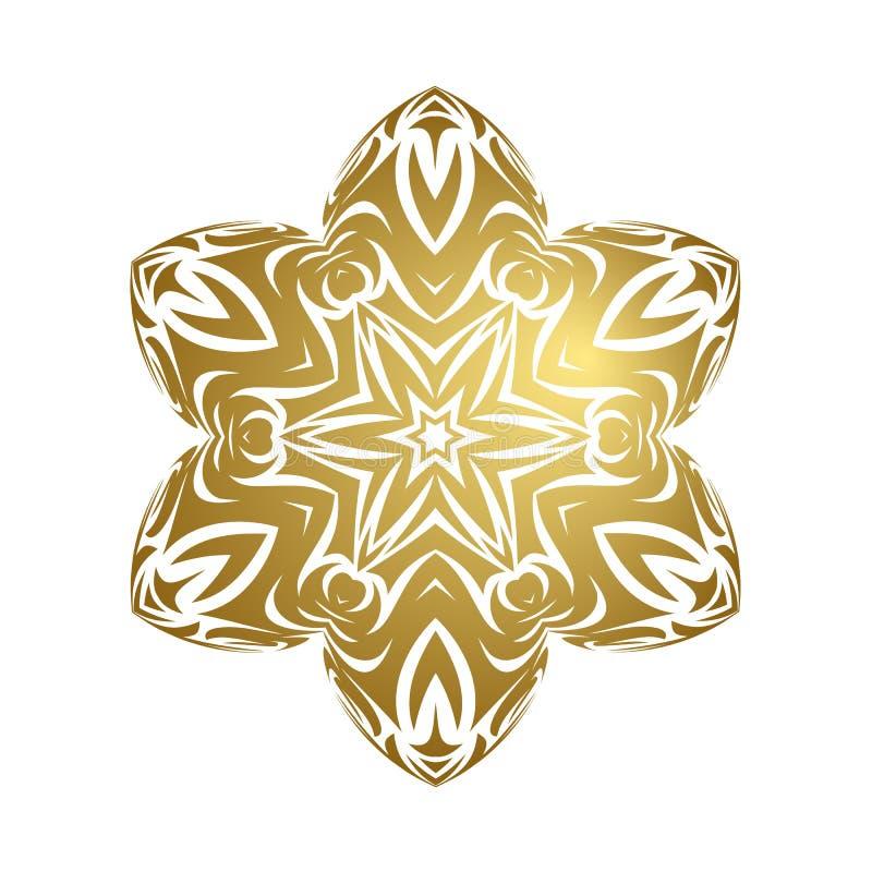 Merry christmas happy new year gold snowflake stock photo
