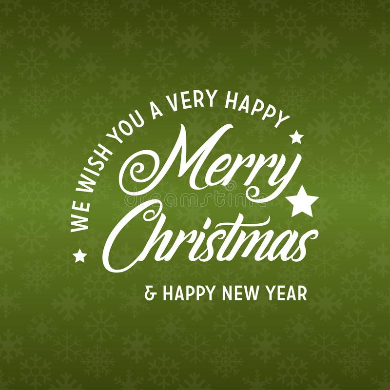 Merry Christmas and Happy New Year 2019 Green Background vector illustration