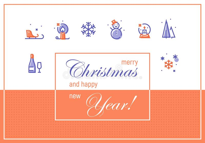 Merry christmas and happy new year greeting cards template stock download merry christmas and happy new year greeting cards template stock illustration illustration of m4hsunfo