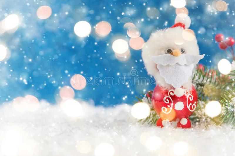 Merry Christmas and Happy New Year, Holidays greeting card background. Selective focus. Merry Christmas and Happy New Year, Holidays greeting card with blurred royalty free stock photos