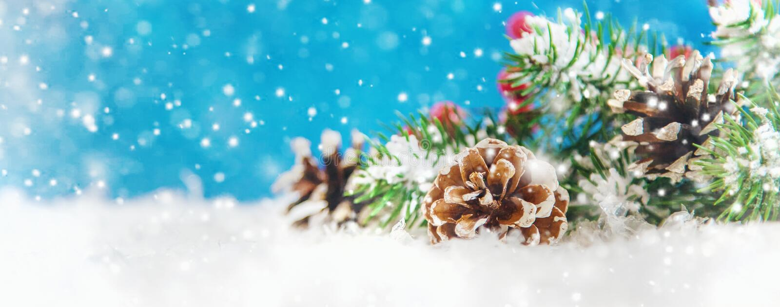 Merry Christmas and Happy New Year, Holidays greeting card background. Selective focus. Merry Christmas and Happy New Year, Holidays greeting card with blurred stock photo