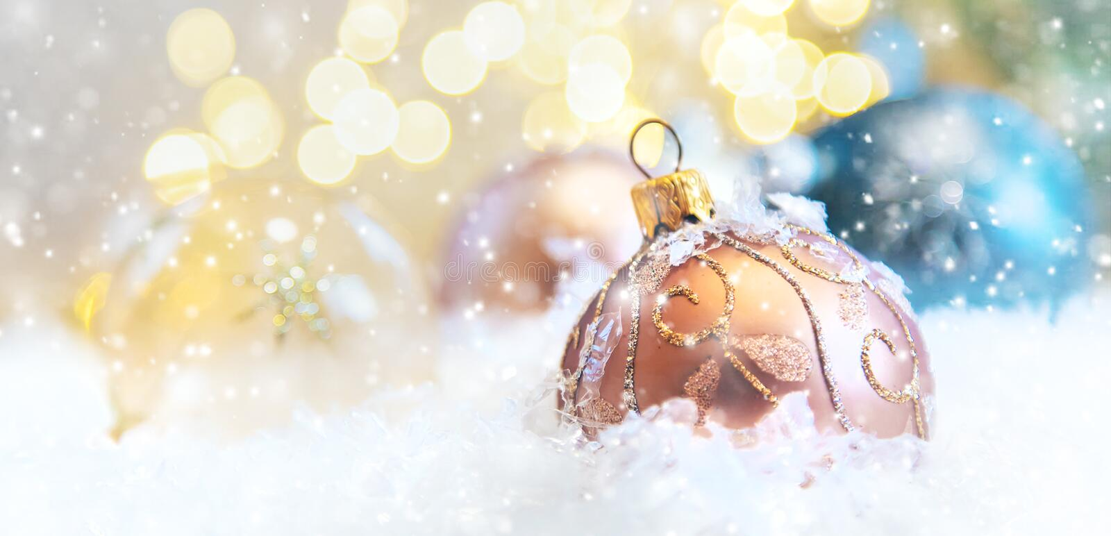 Merry Christmas and Happy New Year, Holidays greeting card background. Selective focus. Merry Christmas and Happy New Year, Holidays greeting card with blurred stock image