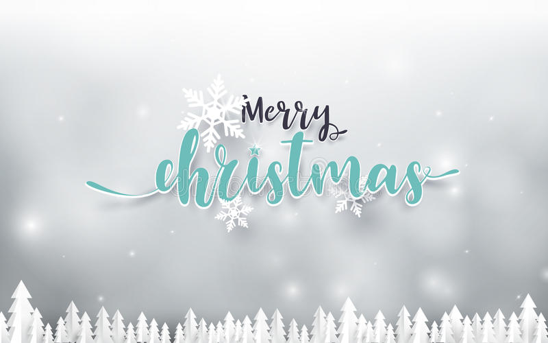 Merry Christmas and Happy new year Landscape background royalty free illustration